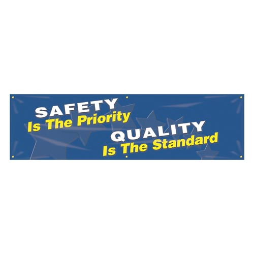 Safety Is the Priority, Quality Is the Standard Banner (010260)