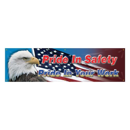 Pride In Safety, Pride In Your Work Banner (010262)