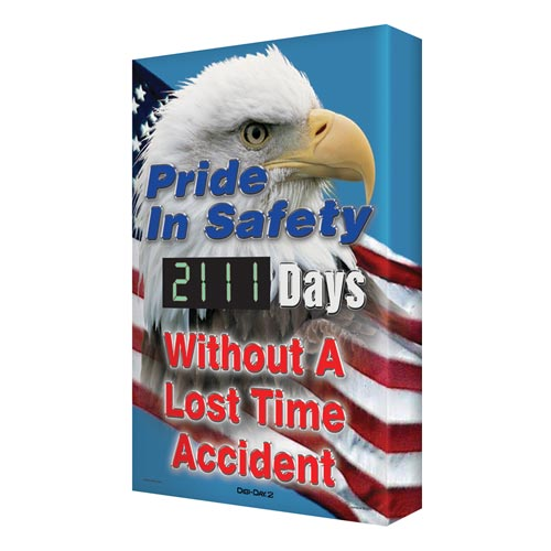 Pride In Safety - Digi-Day Electronic Scoreboard (010266)