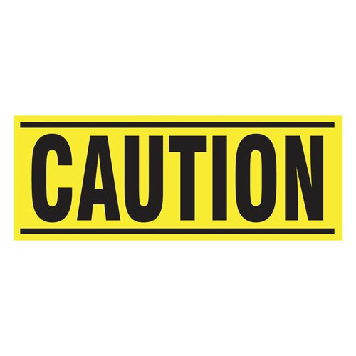 Caution - Blockade X-Barricade Changeable Message (010283)