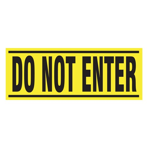 Do Not Enter - Blockade X-Barricade Changeable Message (010284)
