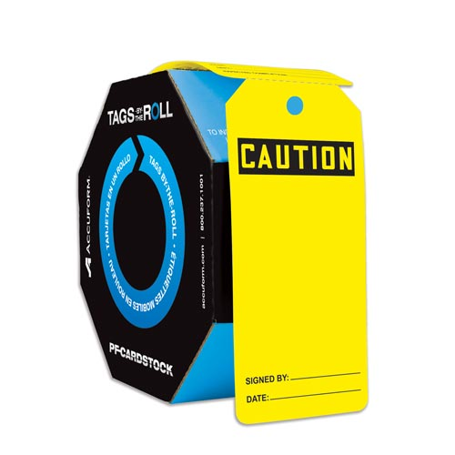 Caution: Blank - OSHA Safety Tag: Tags By-The-Roll (010294)