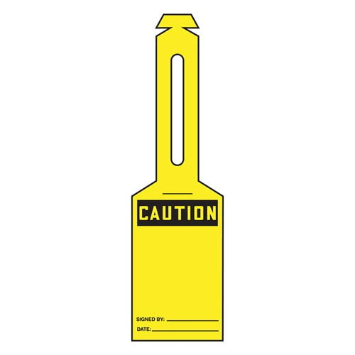 Caution: Blank - OSHA Safety Tag: Loop 'n Strap Tags (010301)