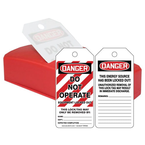 Danger: Do Not Operate Equipment Locked Out - OSHA QuickTags (010306)