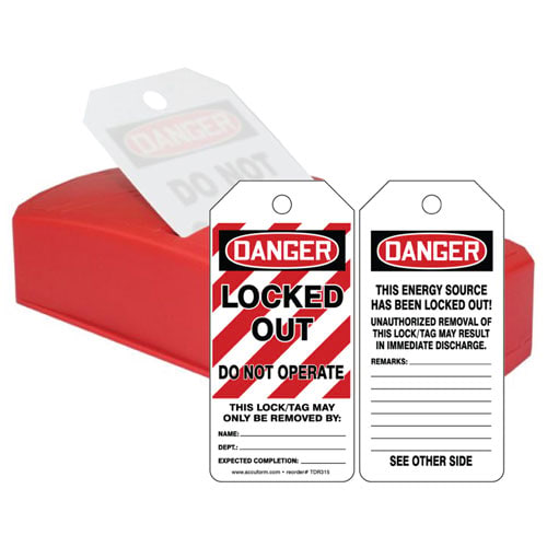 Danger: Locked Out Do Not Operate - OSHA QuickTags (010307)