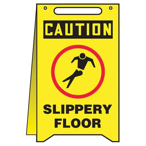Caution: Slippery Floor - OSHA Fold-Up (010313)