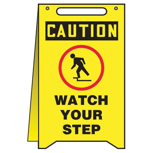 Caution: Watch Your Step - OSHA Fold-Up (010315)