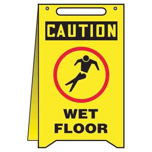 Caution: Wet Floor - OSHA Fold-Up (010316)