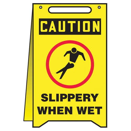 Caution: Slippery When Wet - OSHA Fold-Up (010319)