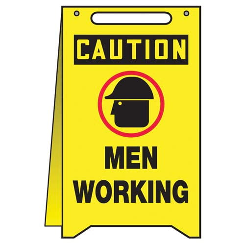 Caution: Men Working - OSHA Folding Sign (010322)
