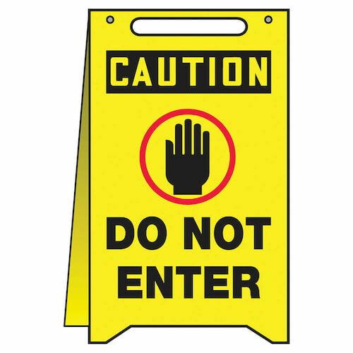 Caution: Do Not Enter - OSHA Folding Sign (010383)