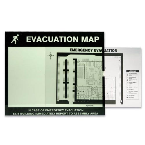Emergency Evacuation Map Holder (010385)