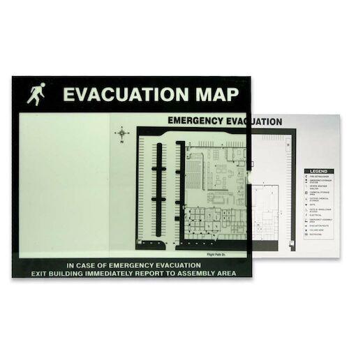 Emergency Evacuation Map Holder (010385)