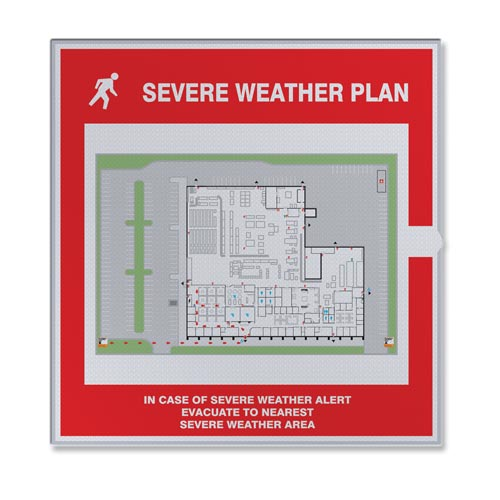 Severe Weather Map Holder (010386)