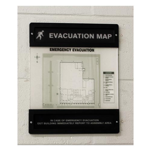 Evacuation Map Unassembled (010388)