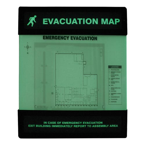 Glow-In-The-Dark Evacuation Map Unassembled (010389)