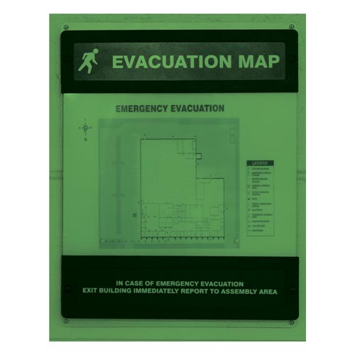 Glow-In-The-Dark Evacuation Map Preassembled (010390)