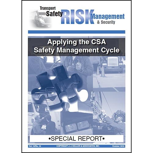 Special Report - Applying the CSA Safety Management Cycle (07953)