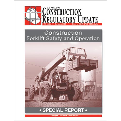 Special Report - Construction Forklift Safety and Operation (012841)