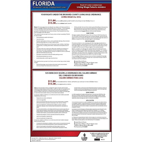 Florida / Broward County Living Wage Poster (08907)