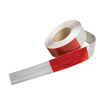 "Conspicuity Tape Rolls for Trailers – 11"" Red / 7"" White, 3M™ Flexible Prismatic (011868)"