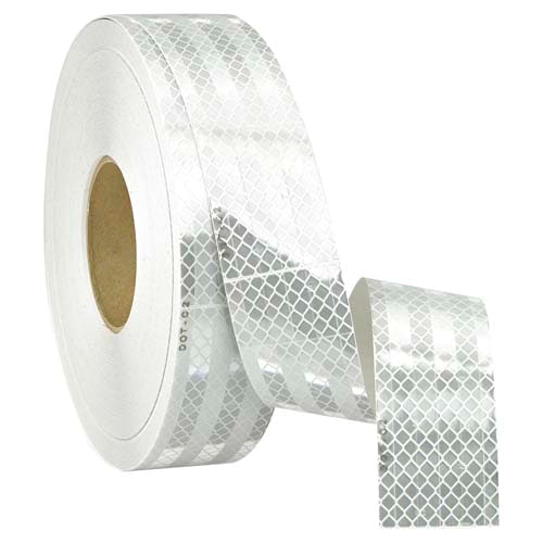 Conspicuity Tape Rolls for Trailers – White, 3M™ Flexible Prismatic (011869)
