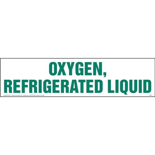 Oxygen, Refrigerated Liquid Sign (010505)