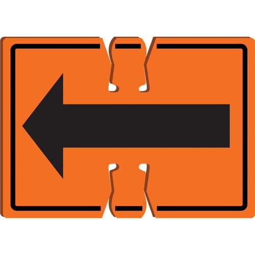 Right/Left Arrow - Traffic Cone Sign (010520)