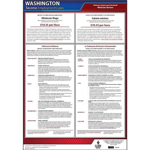 Tacoma Washington Municipal Code Poster (010592)