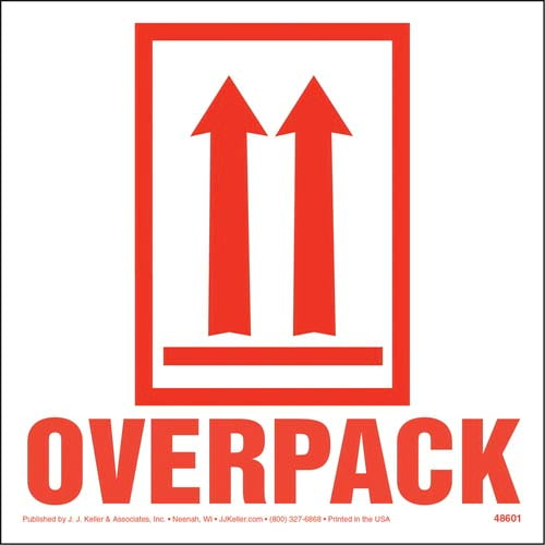 This End Up - Orientation Arrows/Overpack Package Marking - Paper, Red Ink, Roll of 500 (010650)
