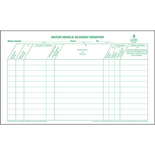 Motor Vehicle Accident Register (01589)