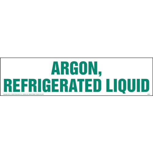 Argon, Refrigerated Liquid Sign (010776)
