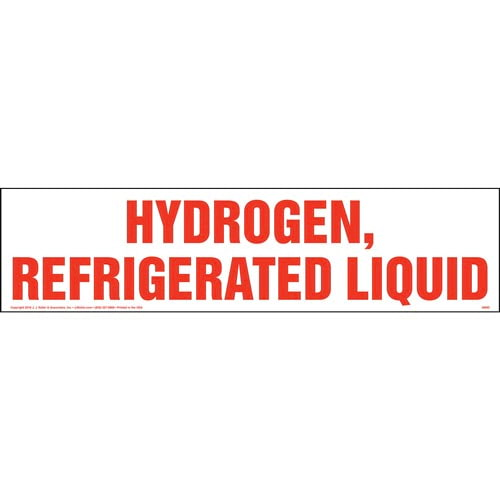 Hydrogen, Refrigerated Liquid Sign (010777)