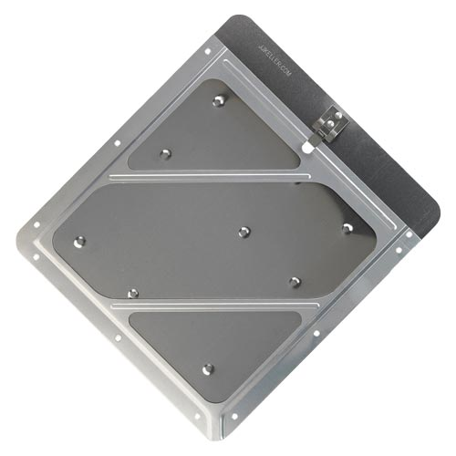 Rivetless Aluminum Wide-Edge Placard Holder w/Back Plate (010789)