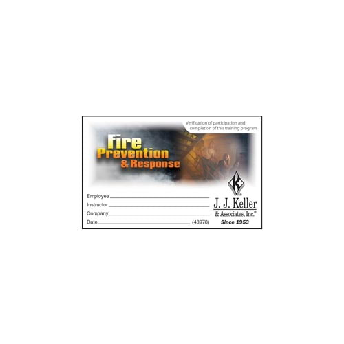 Fire Prevention & Response: What Employees Need to Know – Wallet Card (010834)