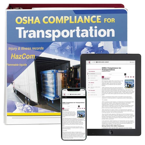 OSHA Compliance for Transportation Manual (00281)