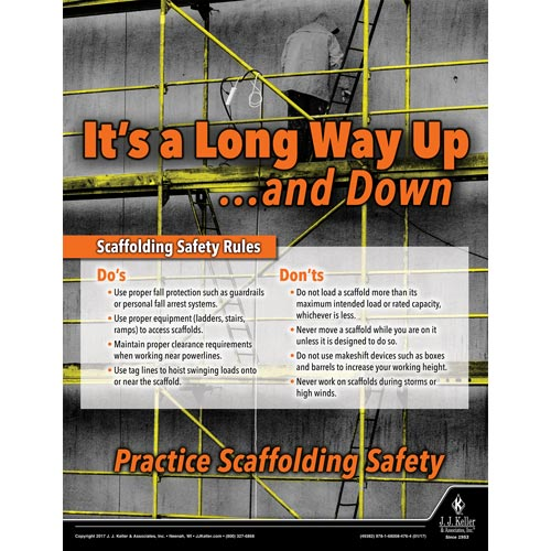 It's A Long Way Up -  Construction Safety Poster (012079)