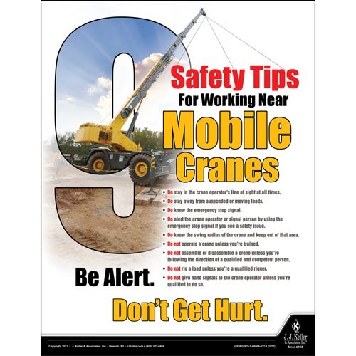 Mobile Cranes - Construction Safety Poster (012377)