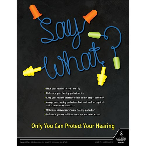 Protect Your Hearing - Construction Safety Poster (012378)