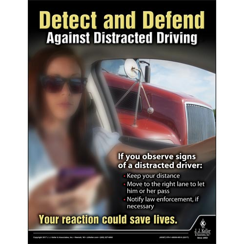 Detect and Defend - Driver Awareness Safety Poster (010852)
