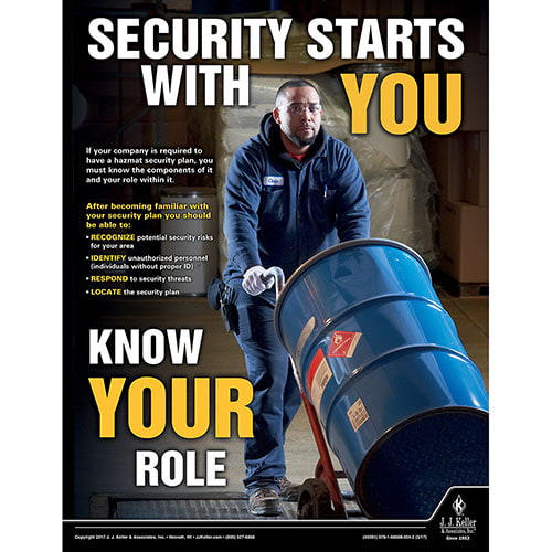 Security Starts With You -  Hazmat Transportation Poster (010856)