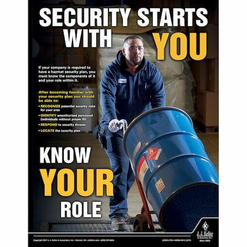 Security Starts With You -  Hazmat Transportation Poster (010856)