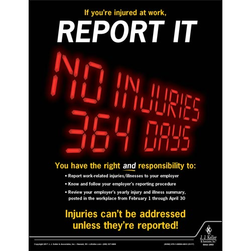 Report It - Workplace Safety Advisor Poster (010857)