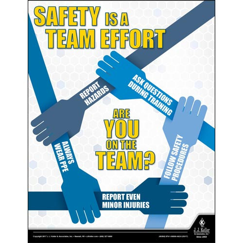 Safety is a Team Effort - Workplace Safety Advisor Poster (010859)