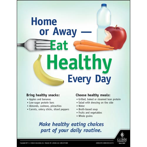 Eat Healthy - Health & Wellness Awareness Poster (010872)