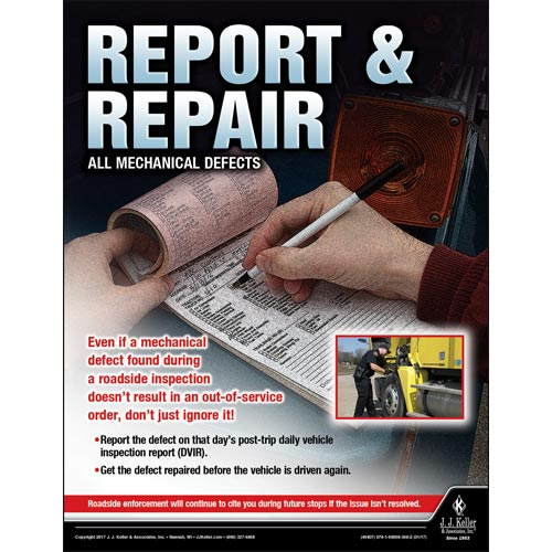 Report and Repair - Transportation Safety Risk Poster (010875)