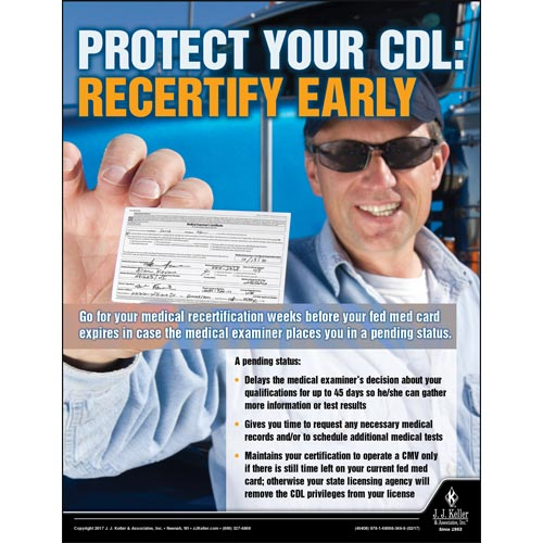 Protect Your CDL - Transport Safety Risk Poster (010876)