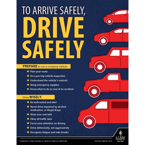 Drive Safely - Workplace Safety Training Poster (010882)