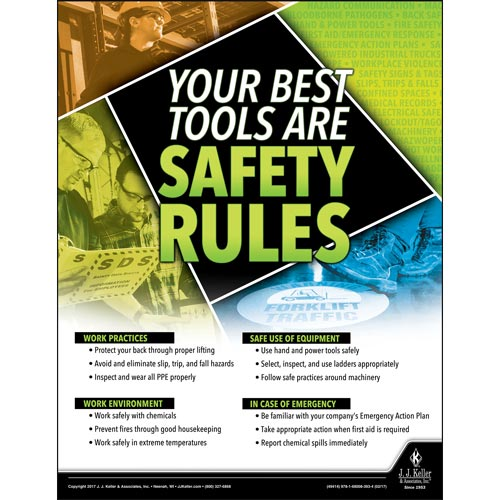Safety Rules - Workplace Safety Training Poster (010883)