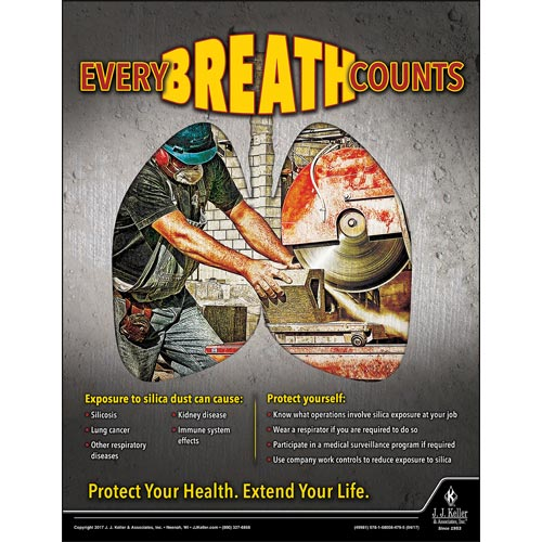 Every Breath Counts - Construction Safety Poster (012379)